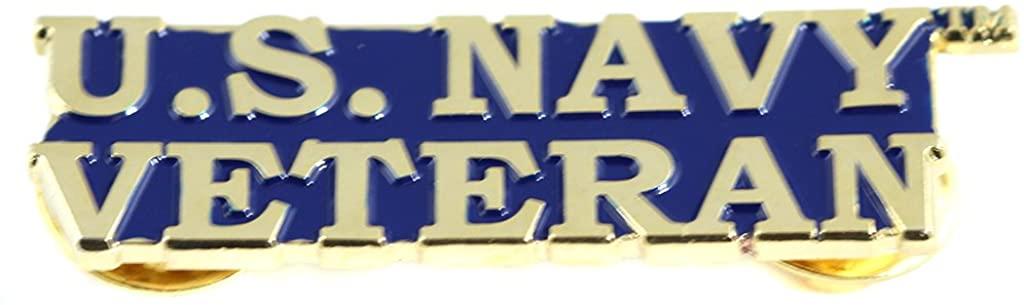 EE, Inc. US Navy Bold Faced Veteran Pin Military Collectibles for Men Women