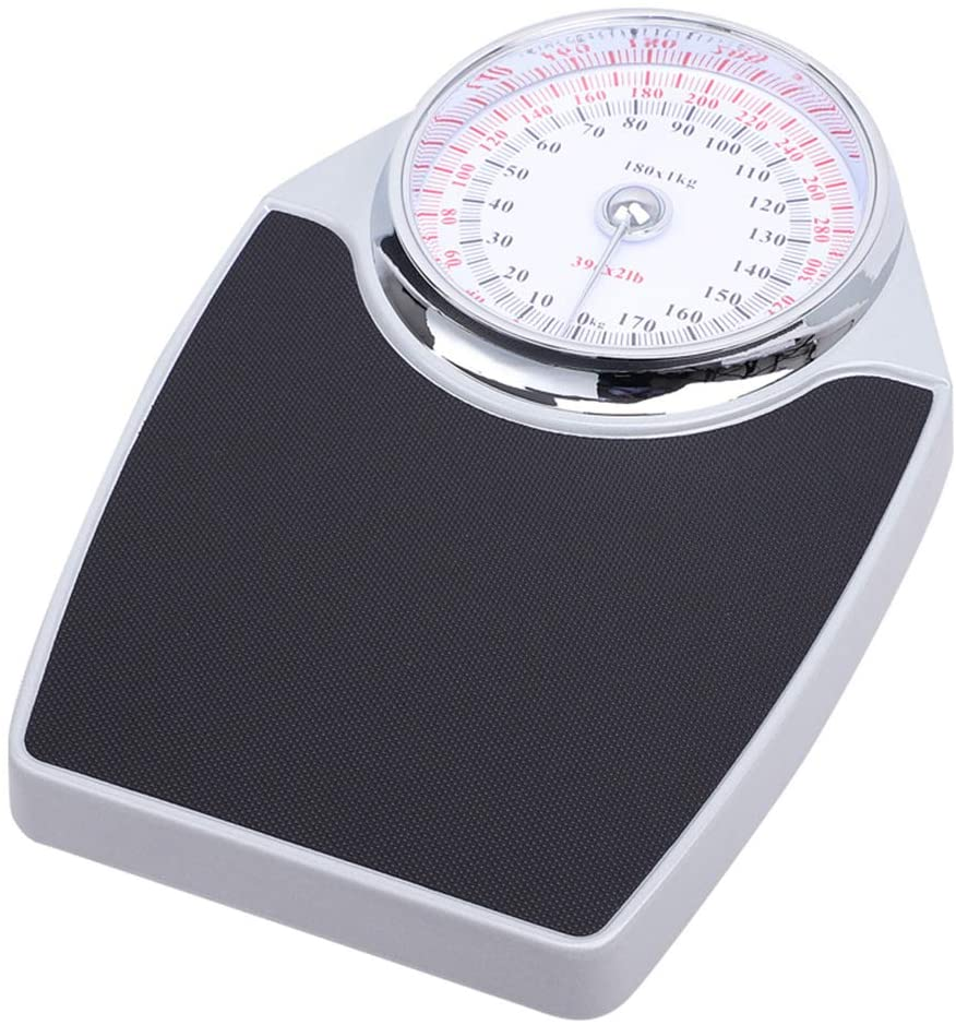 Bathroom Scale Analog, Mechanical Bathroom Scales, Large Dial Metal Analog Bathroom Scale, Easy to Read, Sturdy Base, Accurate Measurements Up to (180kg) 390lb, Battery Free