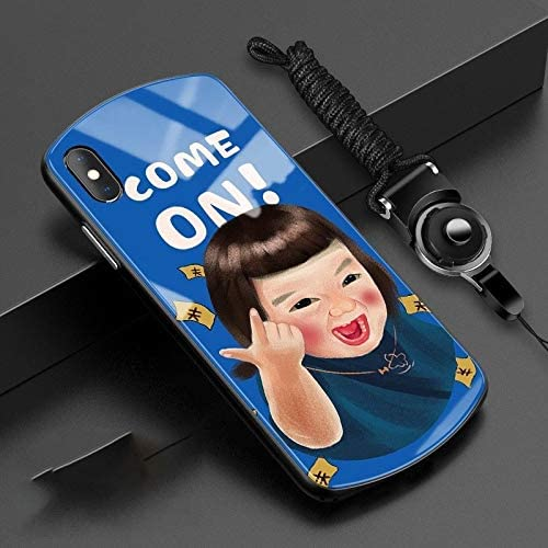 LILIANG Compatible with iPhone 11 Case, Funny Cute Girl Tempered Glass iPhone 11 Cases Cover for iPhone 11/11 Pro / 11 Pro Max and Many Models Simple and Stylish Mobile Phone Case
