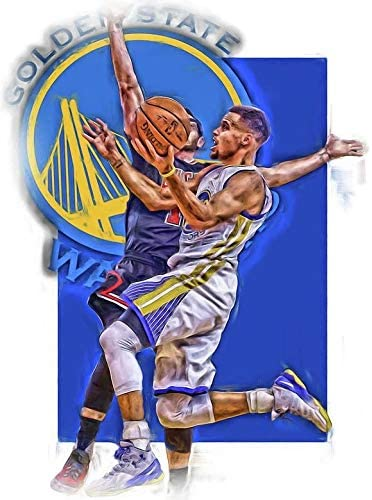 Stephen Curry Poster Print, Artwork, Basketball Player, Real Player, Stephen Curry Decor, Posters for Wall, Canvas Art Size 24 x 32 Inches