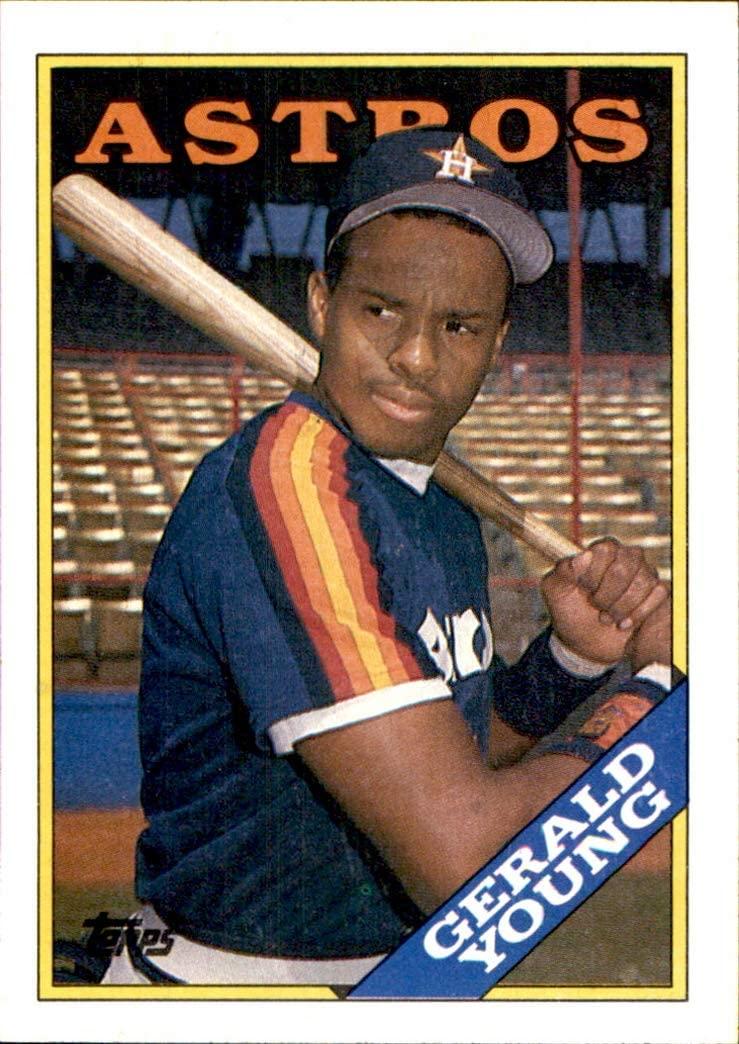1988 Topps #368 Gerald Young HOUSTON ASTROS MLB Baseball Trading Card (Sku7JLa)