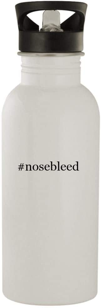 #nosebleed - 20oz Stainless Steel Hashtag Outdoor Water Bottle, White