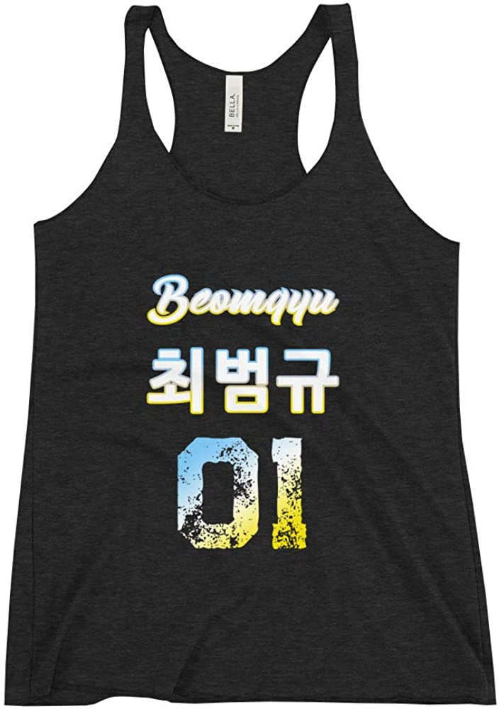 Beomgyu Raceback Tank Top Name & Birth Year Shirt | Kpop TXT MOA Fan Merchandise