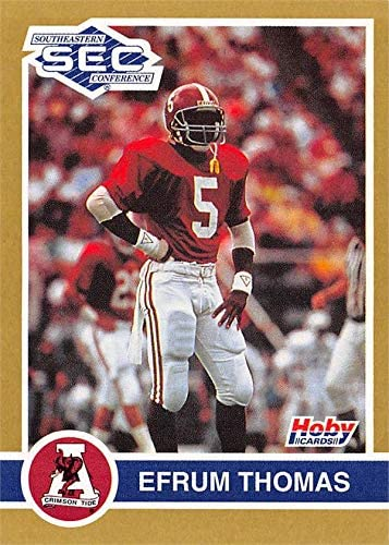 Efrum Thomas football card (Alabama Crimson Tide) 1991 Hoby SEC Southeastern Conference #7