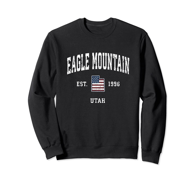 Eagle Mountain Utah UT Vintage American Flag Sports Design Sweatshirt