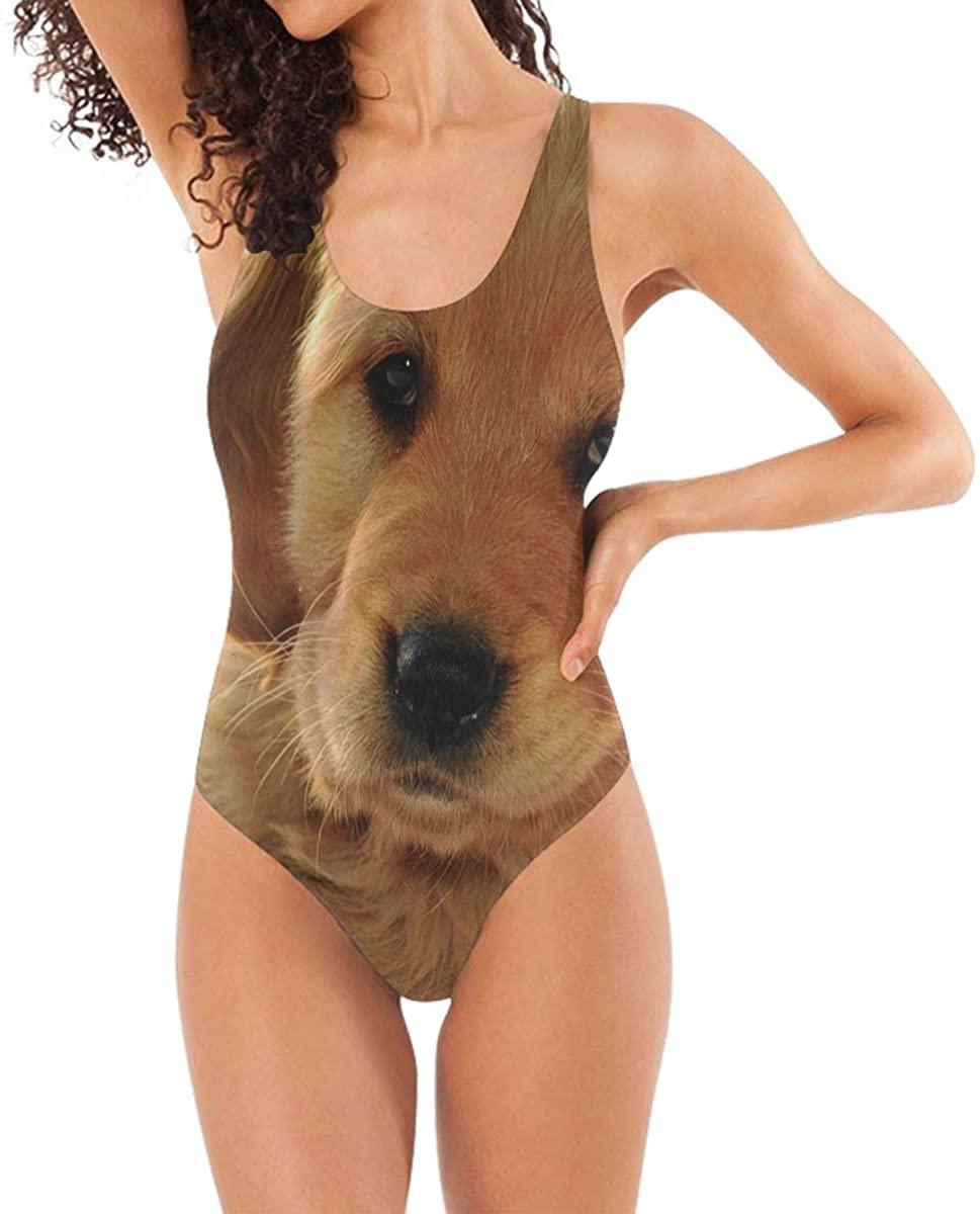 Womens Swimsuits Golden Retriever Cute Pet Bathing Suits One Piece Tankini
