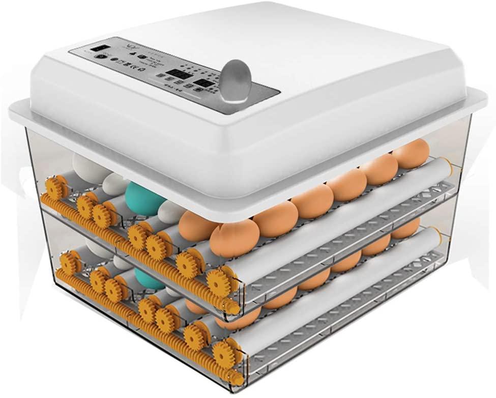 JAEDO Automatic Egg Incubator 96~128 Egg Incubator Digital Automatic Hatcher with Egg Turning for Chickens Ducks Goose Birds