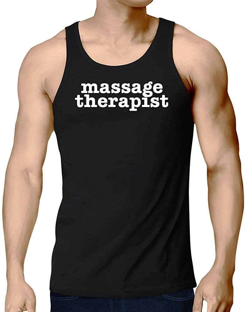 Eddany Massage Therapist Bold Typewriter Tank Top