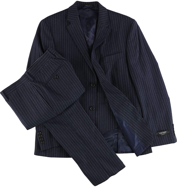 Ralph Lauren Mens Pinstripe Formal Tuxedo