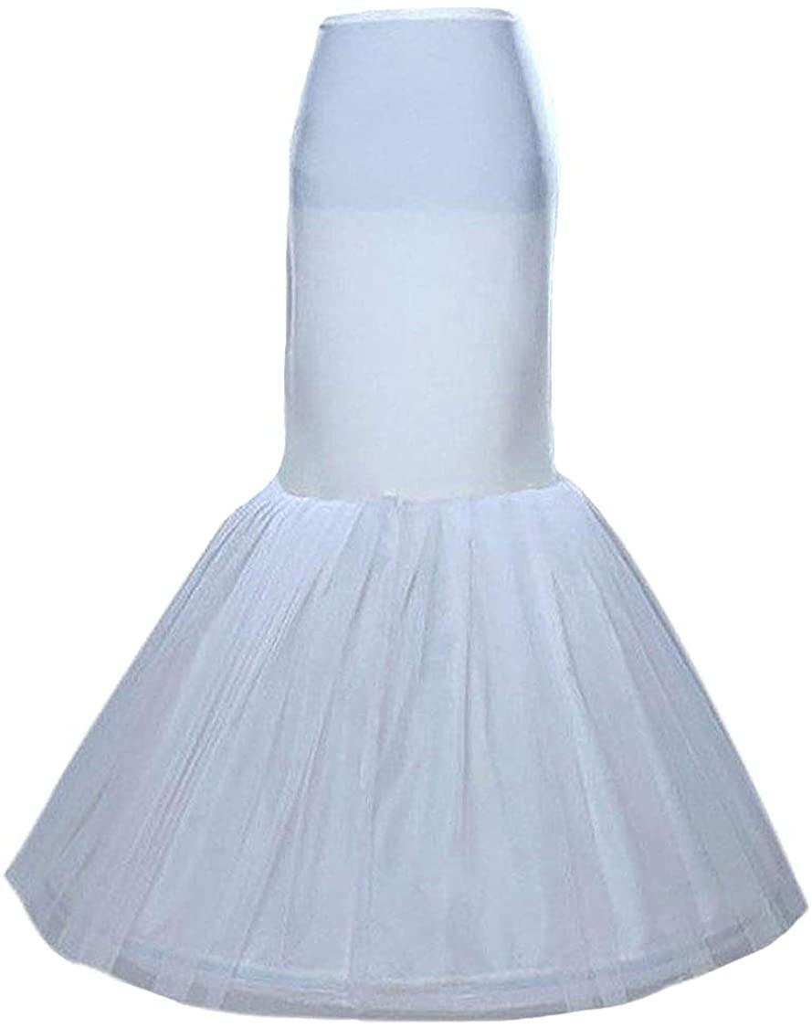 SISJULY Women's Underskirt Trumpet Mermaid Wedding Petticoat Slips for Bridal