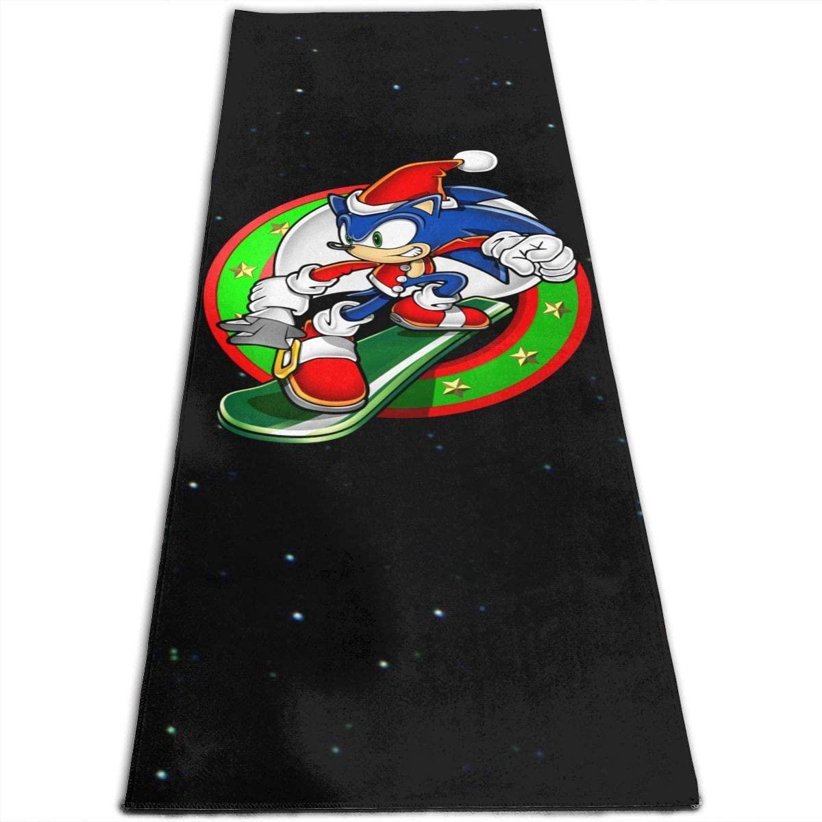 10sdaklasd Christmas Sonic The Hedgehog Yoga Mat 4-5mm