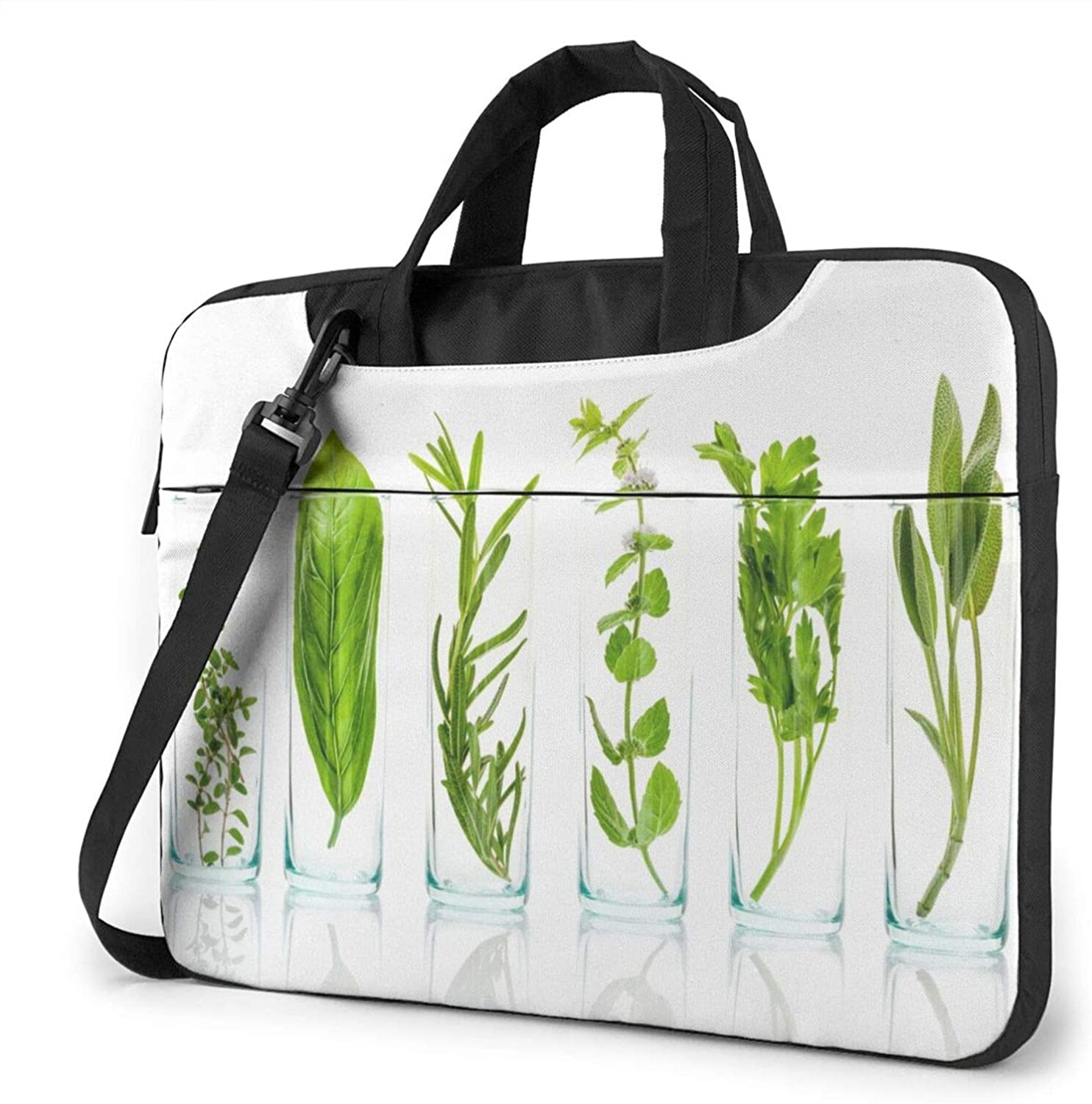 Marvellous Fresh Herbs Laptop Shoulder Messenger Bag,Laptop Shoulder Bag Carrying Case with Handle Laptop Case Laptop Briefcase 14 Inch Fits 13 inch Netbook/Laptop