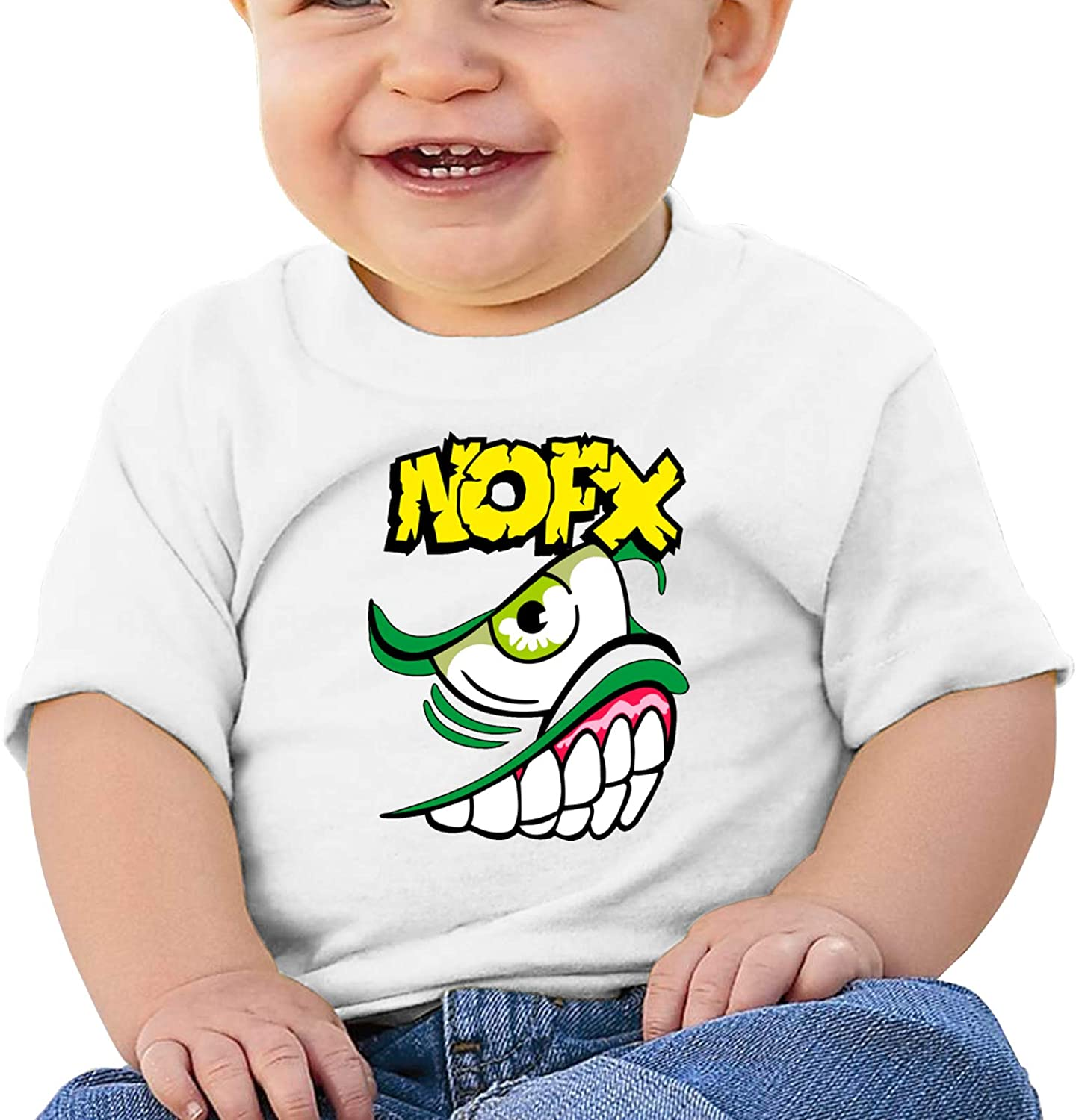 Wedday Baby T-Shirt Cute Infant Home NOFX Graphic Toddler T Boys and Girls Soft Short Sleeve Cotton Kids Shirt