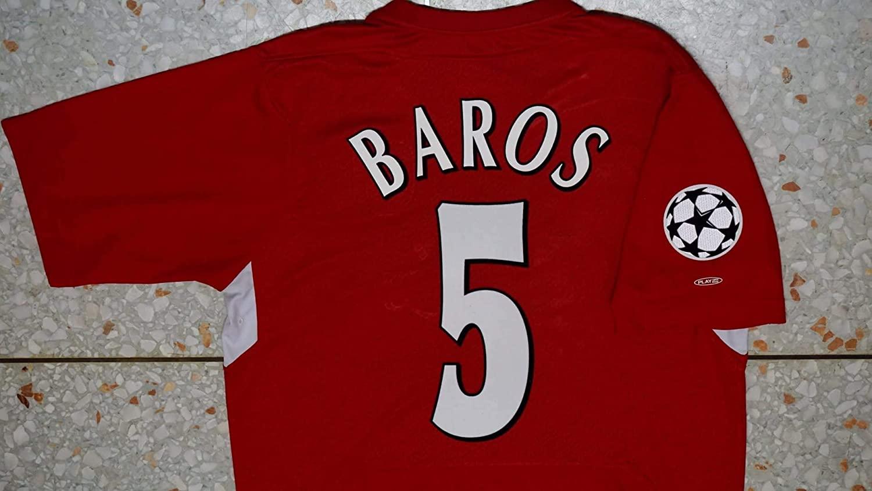 FM Milan baros Retro Soccer Jersey 2005 Champion League Patch