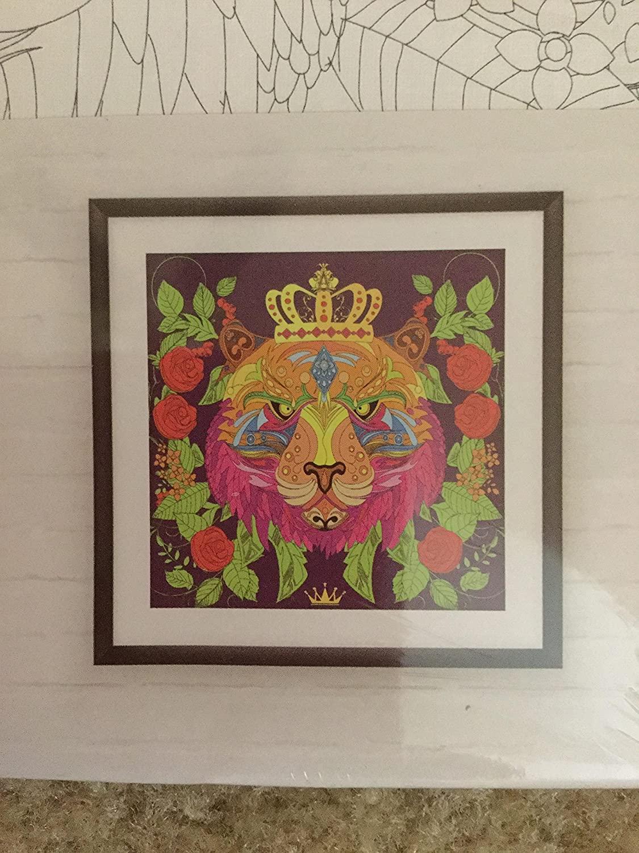 Lion design coloring canvas 10x10