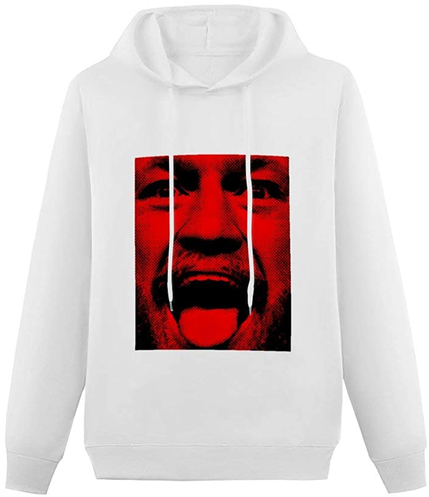 KELO Single-Sided Printing Pocketless Sweater for Men Funny Conor McGregor-Notorious Printed Soft Cotton Hooded Sweatshirt