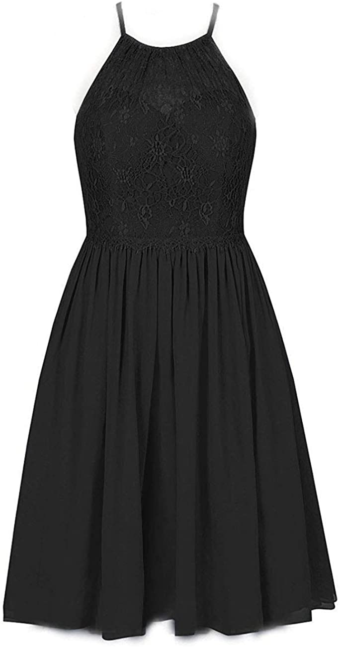 Cdress Short Homecoming Dresses Chiffon Halter Prom Cocktail Dress Junior Party Formal Gowns Lace