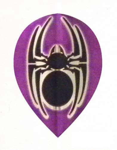 25 Sets #3649 AmeriThon Purple/Black Metallic Tribal Spider Dart Flights