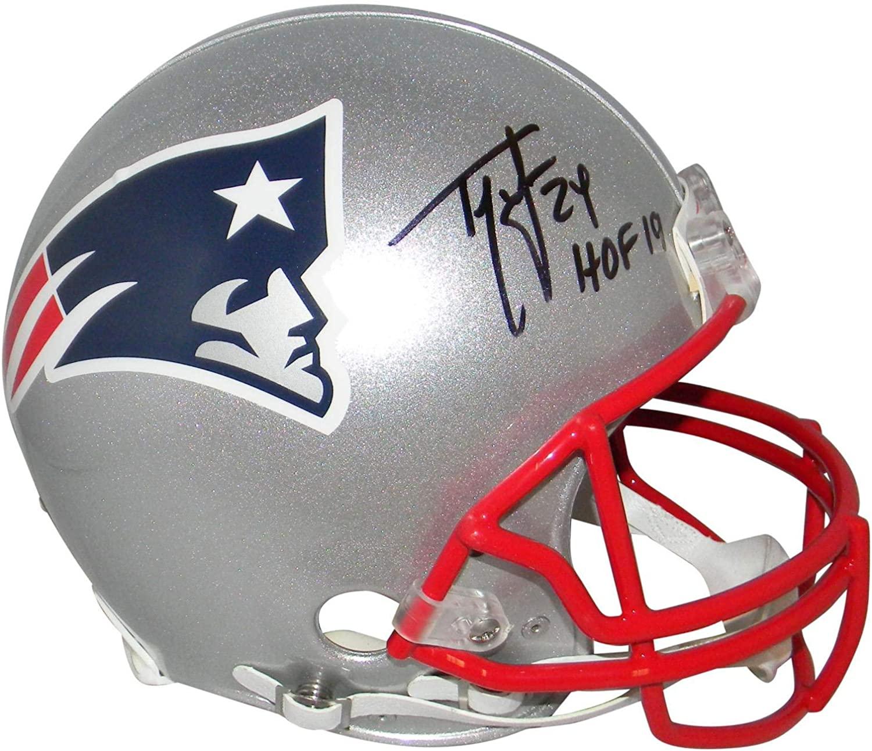 Ty Law Signed New England Patriots Full Size Proline Helmet Beckett W/Hof 19 - Autographed NFL Helmets