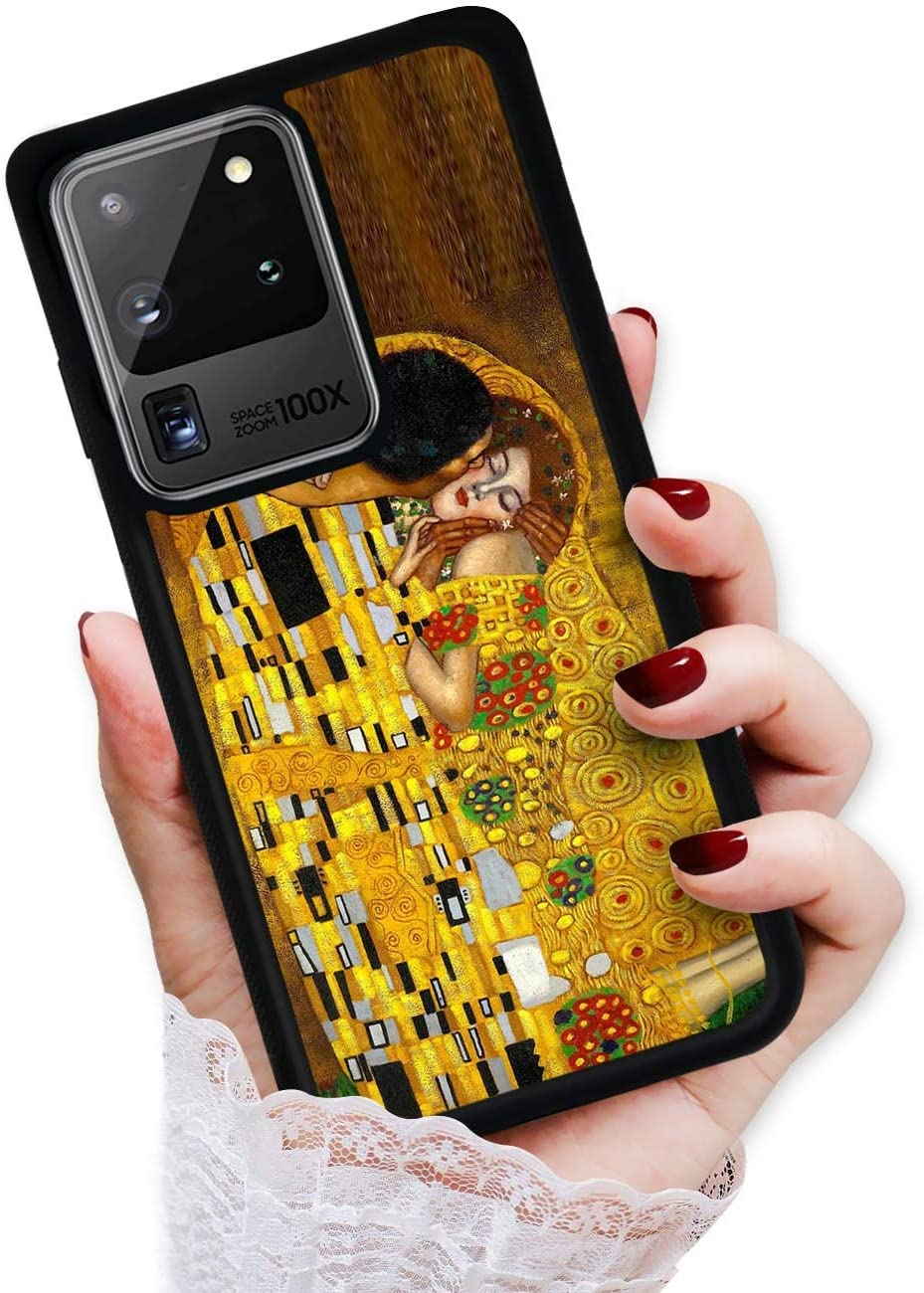 for Samsung Galaxy S20 Ultra, Durable Protective Soft Back Case Phone Cover, HOT12017 Painting The Kiss 12017