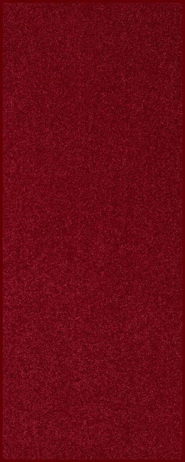 Home Queen Solid Color Custom Size Runner Area Rug Burgundy, 2' x 3'