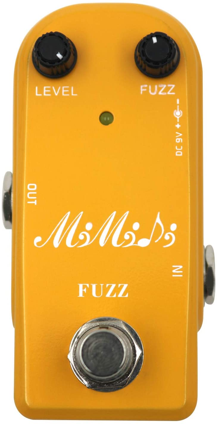 MIMIDI Fuzz Pedal Vintage Super Mini Guitar Effect Pedal True Bypass(310)
