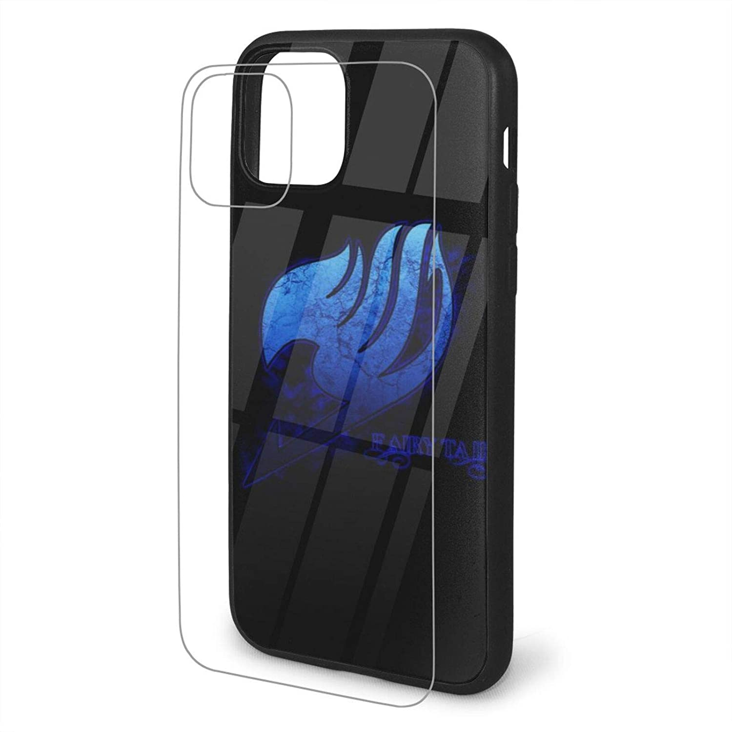 iPhone 11 Pro Max Case, Anime Fairy Tail [Tempered Glass Back] with Soft TPU Bumper Cover Shockproof Thin Slim Phone Case