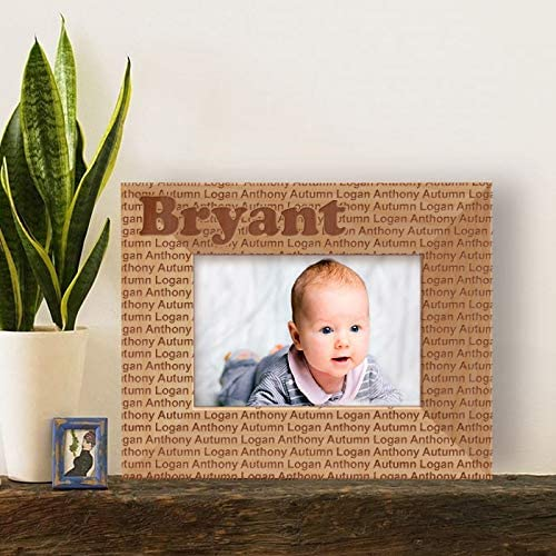 Center Gifts Logan Autumn Baby Personalized Wooden Picture Frame-5
