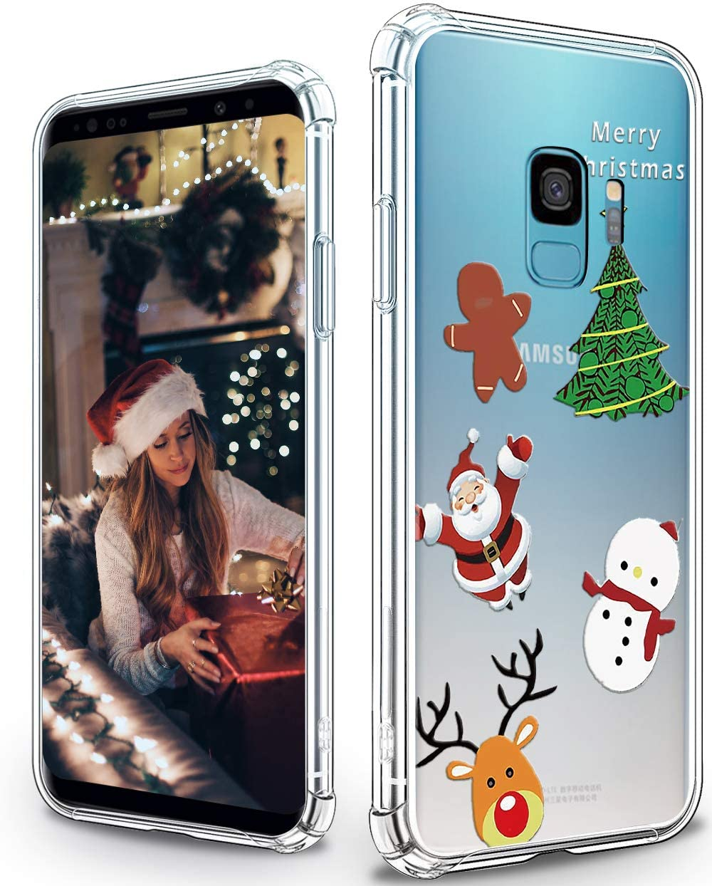 Cute Samsung Galaxy S9 Case with Christmas Pattern Soft Flexible TPU Shockproof Protective Bumper Case for Samsung Galaxy S9 - Christmas 3#