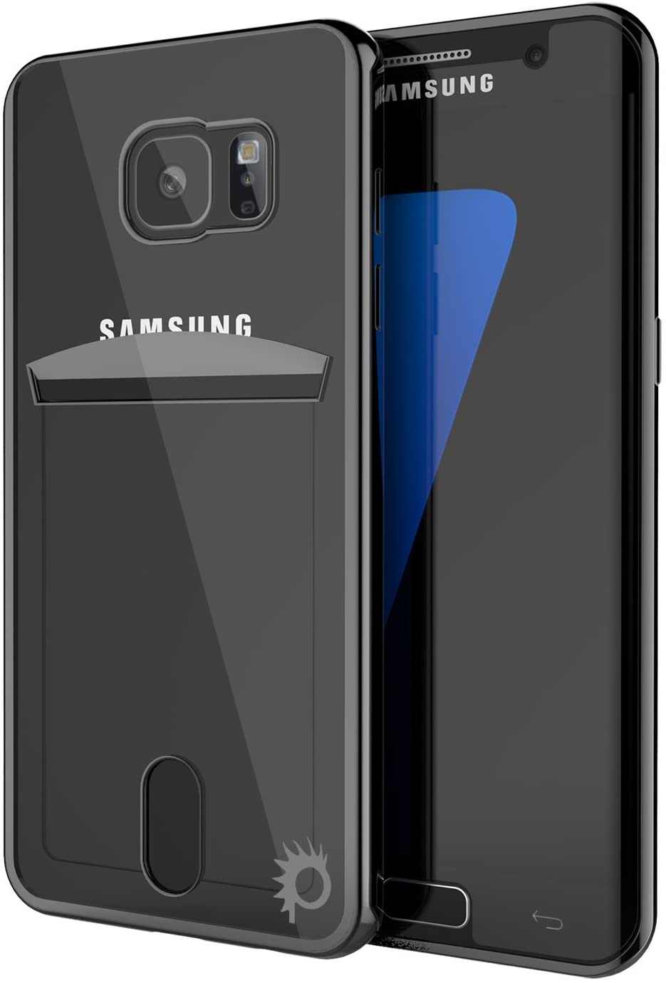 Galaxy S6 Case, PUNKcase [Lucid Series] [Slim Fit] Protective Dual Layer Armor Cover W/Scratch Resistant PUNKSHIELD Screen Protector [Card Slot Design] for Samsung Galaxy S6 [Black]