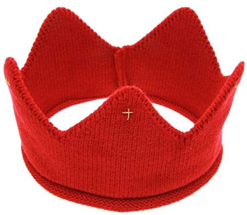 Ywoow Crown Knit Headband & Hat New Cute Baby Boys Girls Crown Knit