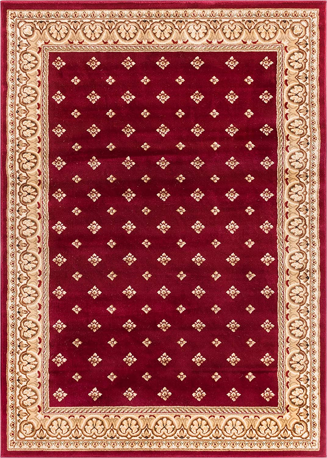Well Woven Barclay Hudson Terrace Red Traditional Area Rug 7'10