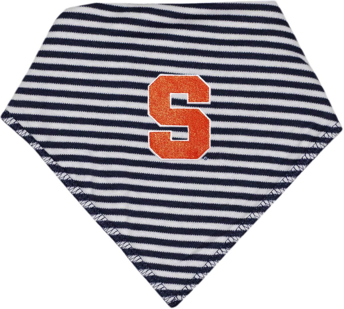 Syracuse University Striped Baby Bandana Bib