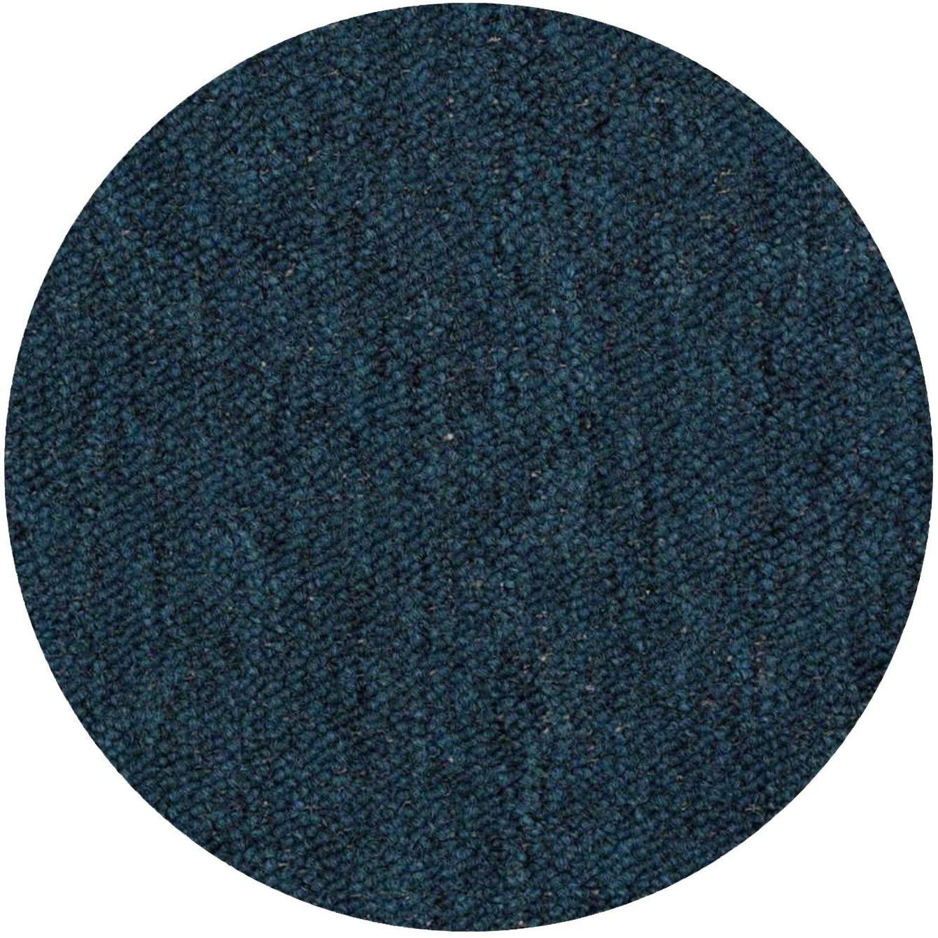 Home Queen IndoorOutdoor Commercial Teal Color Area Rug - 3' Round