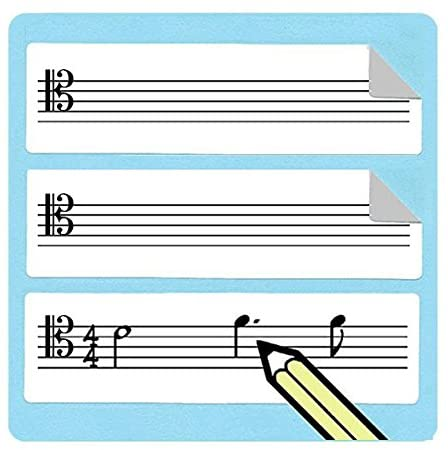Tenor Clef Staff Stickers (75 Pack) Great for music teachers!