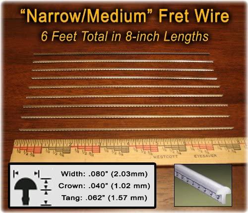 Banjo/Dulcimer Fret Wire - Narrow/Medium Nickel-Silver - Six Feet