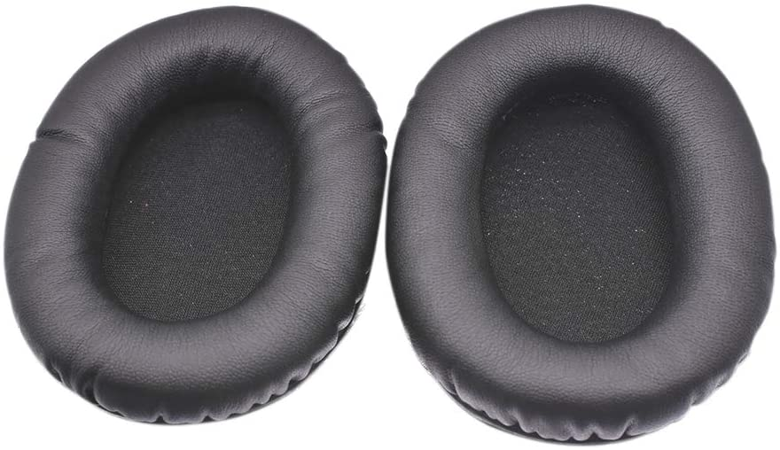 Meijunter Replacement Earpads Cushions Cover for Kingston HyperX Cloud Stinger Gaming Headset - Leather Ear Pad Foam Earmuffs 2 Pcs(Black)