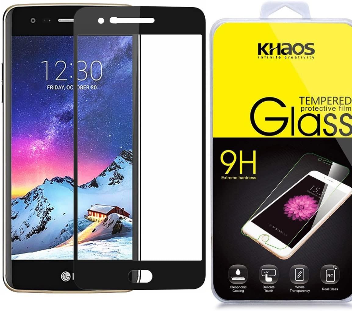 Screen Protector for LG K20 Plus / K20V / Harmony / V5 / Grace Full Cover Tempered Glass, KHAOS Full Screen Coverage Tempered Glass Screen Protector