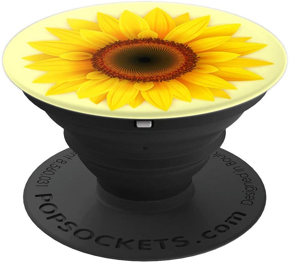 Sunflower Seeds Sun Flower Decor PopSockets Grip and Stand for Phones and Tablets