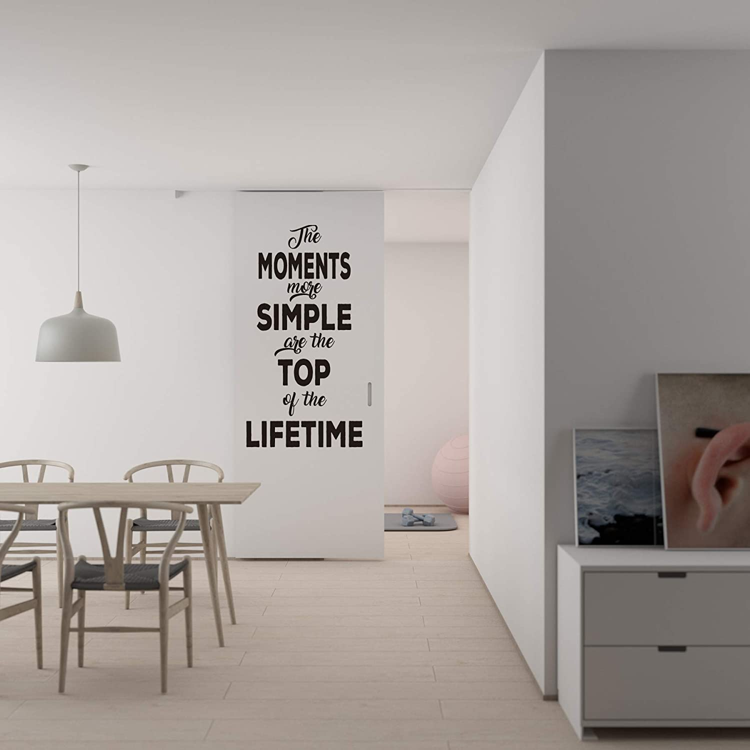 Quote Wall Decal - The Moments More Simple are The Top Wall Decal Vinyl Sticker Nursery for Home Bedroom Children