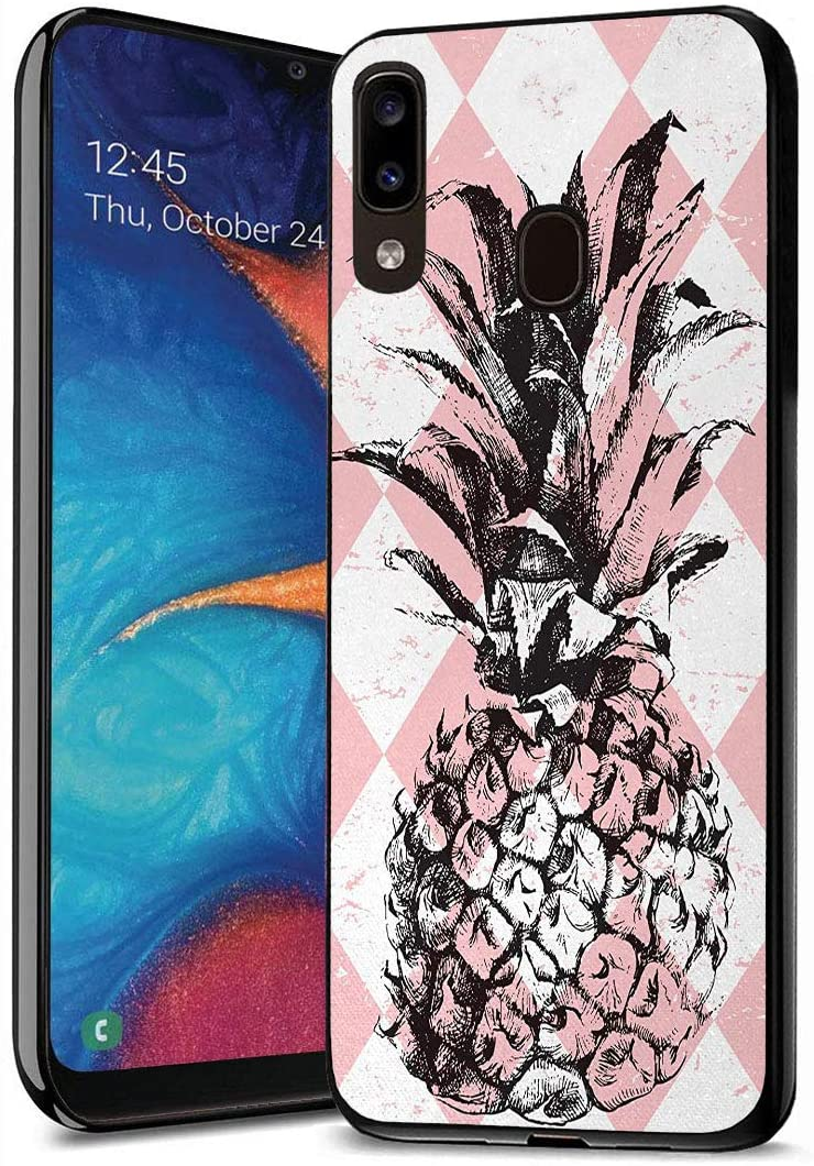 Galaxy A10E Case, Galaxy A20E Case, Premium TPU Slim Anti-Scratch Rubber Protective Case Cover for Samsung Galaxy A10E / A20E (2019) - Pineapple