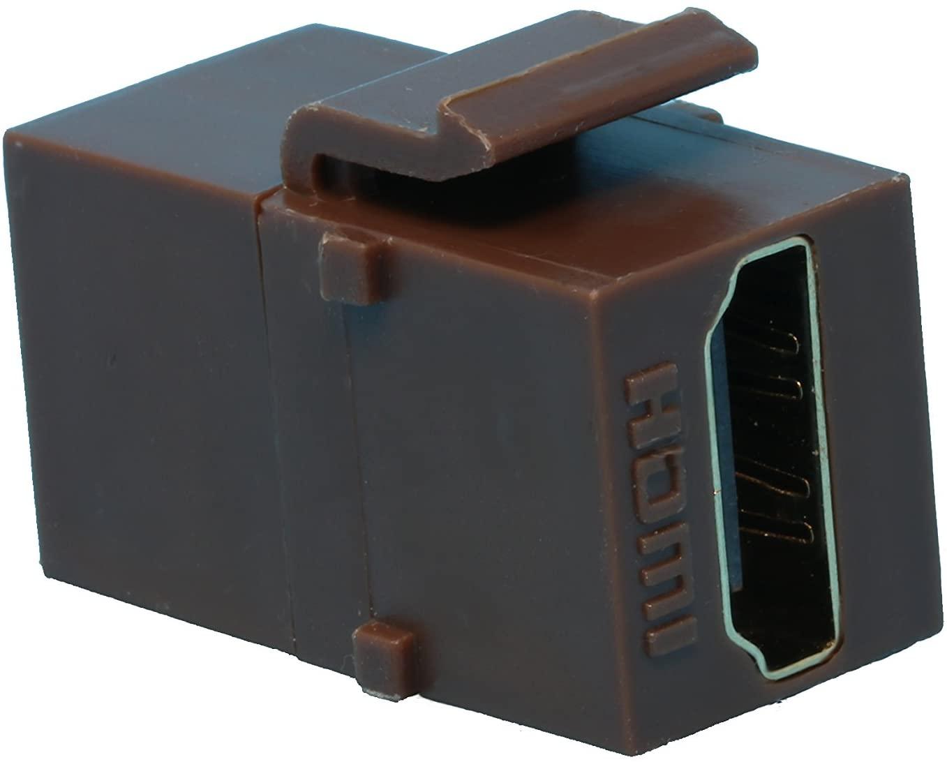 RiteAV HDMI 2.0 Keystone Jack Coupler Brown Female/Female