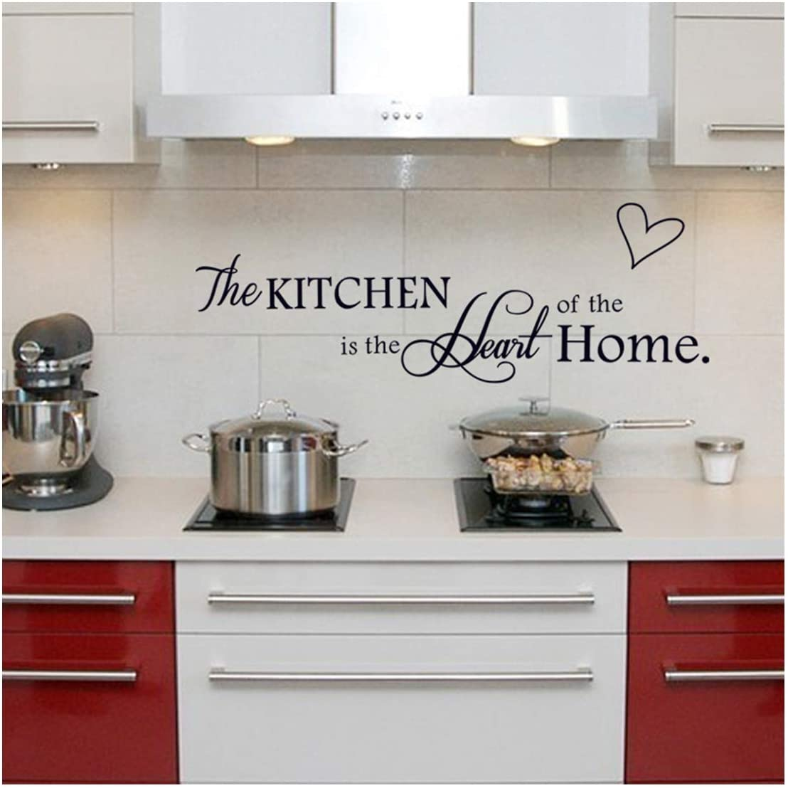 Vpogn The Kitchen is The Heart of The Home Quote Wall Stickers Kitchen & Dining Room Wall Decal Home Decor
