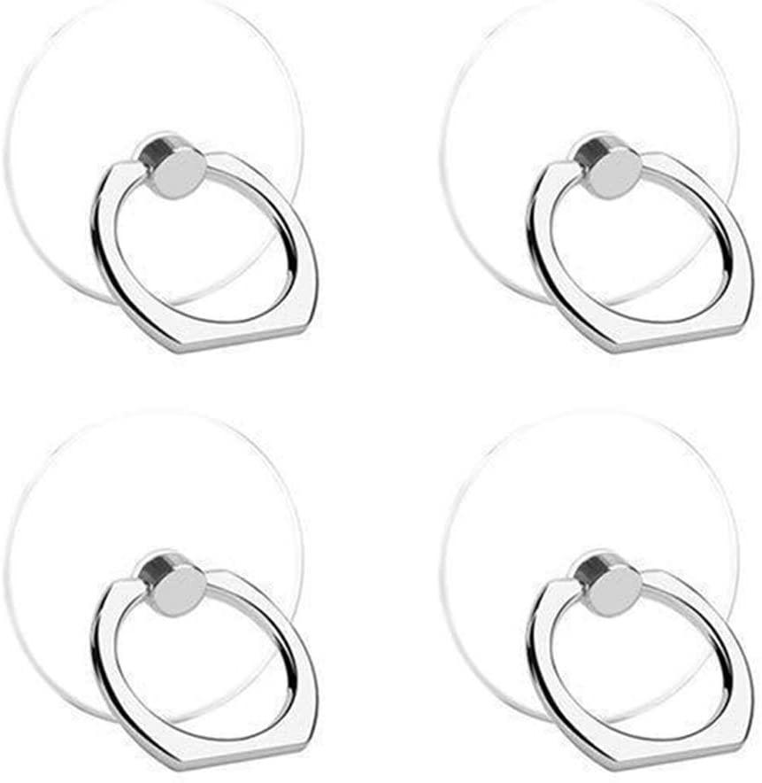 4 PCS Transparent Finger Grip Ring 360 Degree Rotating Finger Ring Nail (Transparent Color)…