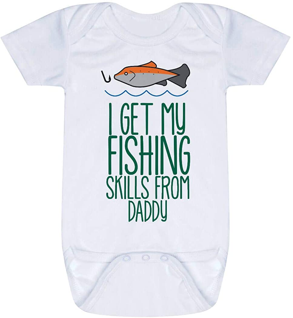 Custom Fly Fishing Baby & Infant Onesie | I Get My Skills from | Colors & Sizes