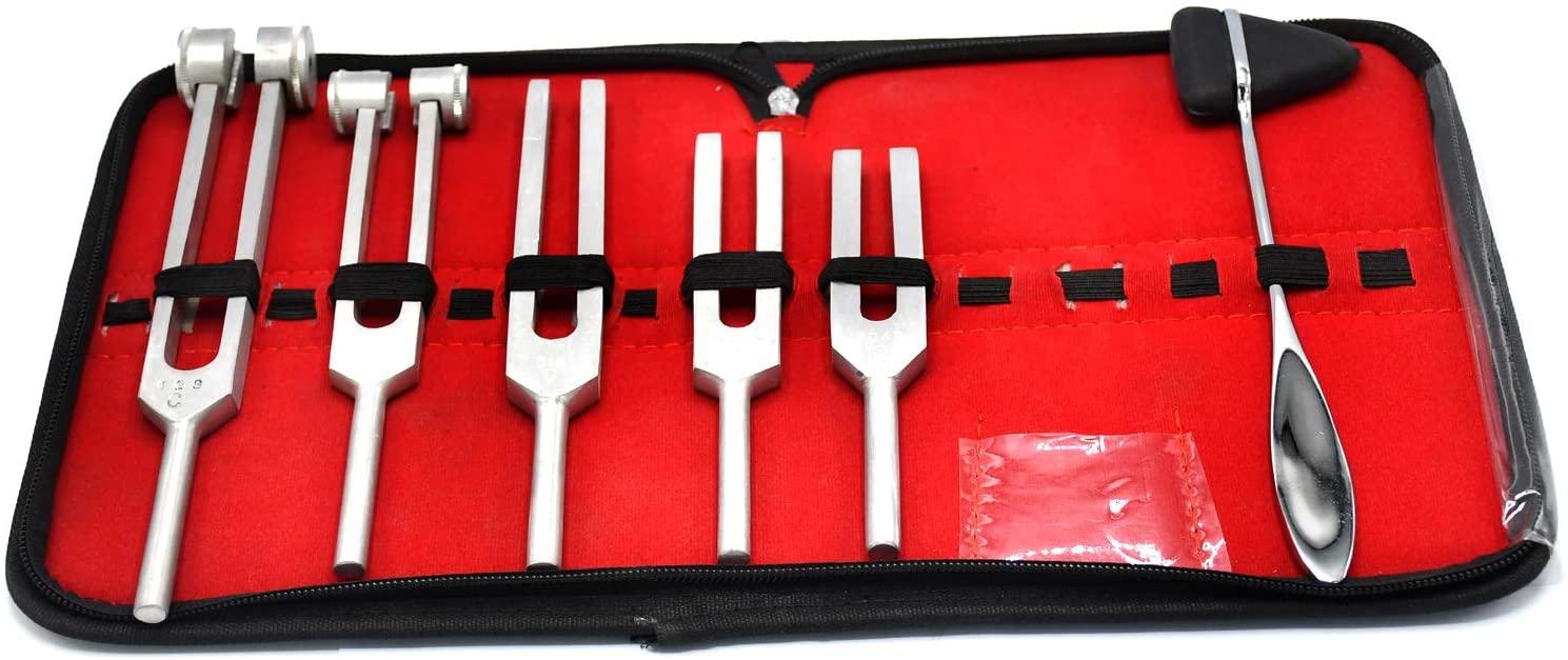DDP Tuning Fork Set of 5 + Taylor Hammer Medic Surgi Diagnostic Instruments