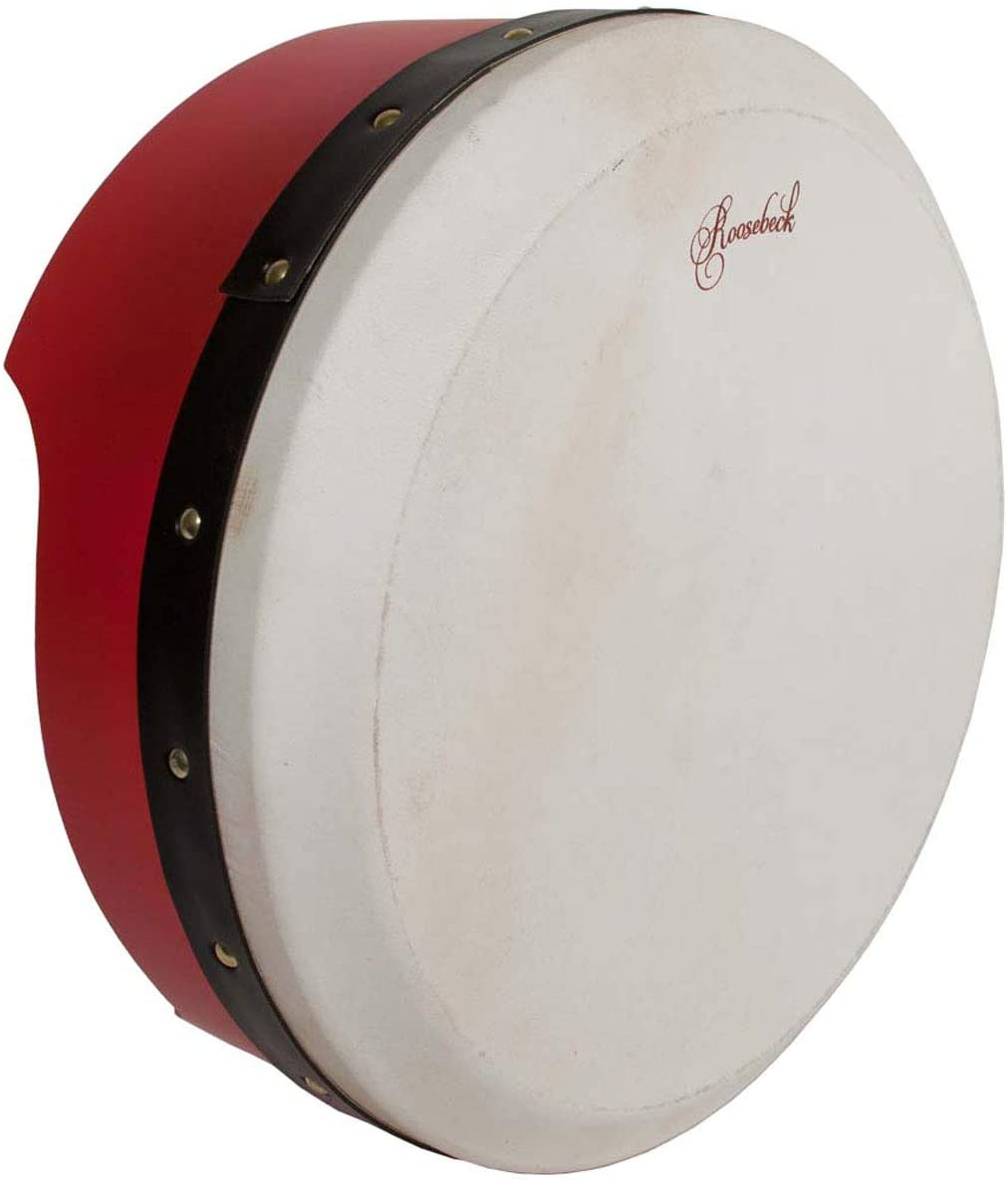 Roosebeck Tunable Ply Bodhran 13InchX5Inch - Red