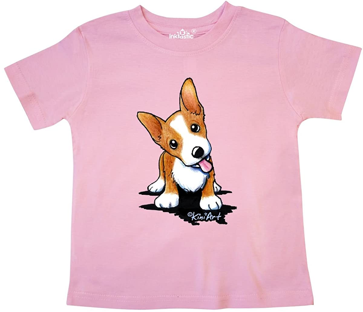 inktastic Corgi Puppy Toddler T-Shirt - KiniArt