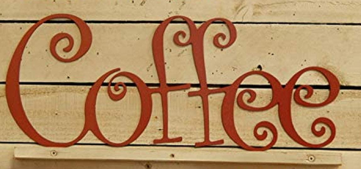 EvyAnn Designs Coffee Sign, Metal Art, Coffee Shop Sign, Coffee Decor, Outdoor Wall Art, Kitchen Decor, Metal Sign, Sign, Indoor