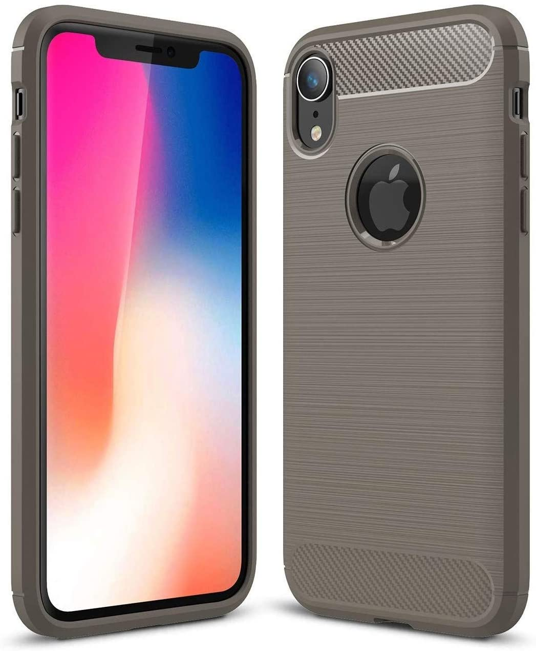 Vultic Carbon Fiber iPhone X/XS Case, Durable [Shock Absorption] Slim TPU Matte Lightweight Thin Bumper Cover for Apple iPhone X and iPhone Xs (Grey)